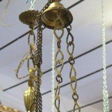 Antigüedades: ANTIGUA LAMPARA VOTIVA DORADA. SIGLO XIX. Lote 99714635