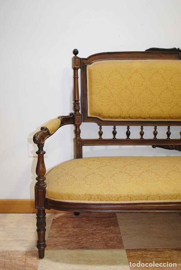 Antigüedades: SOFÁ ANTIGUO, S.XIX EN MADERA DE ROBLE - Foto 4 - 99725051