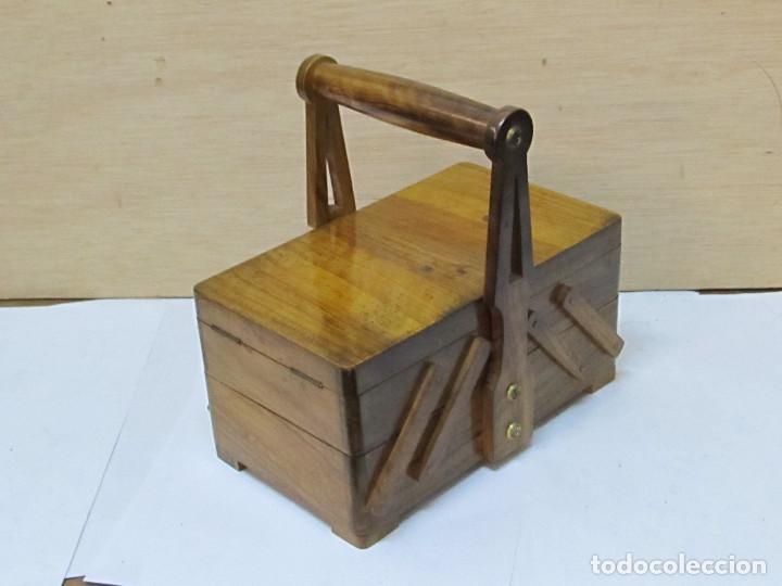 Caja de herramientas desplegable de madera de o comprar - Herramientas de madera ...
