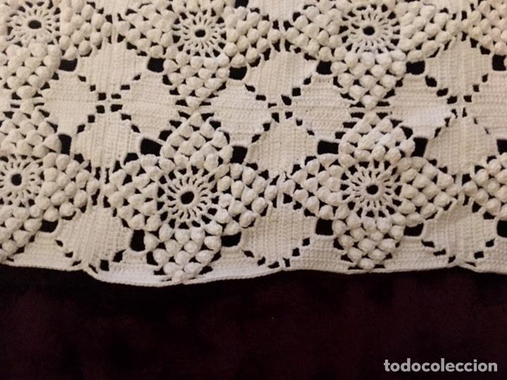 Antigüedades: Mantel hecho a mano de crochet 175cm x 165cm - Foto 2 - 99740504