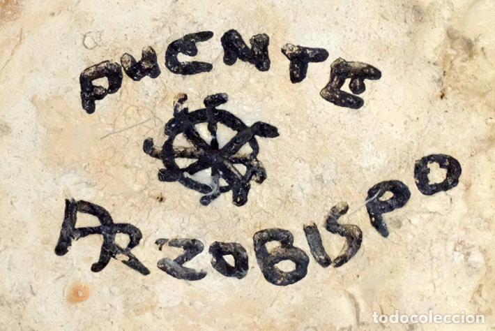 Antigüedades: VINAGRERA EN CERAMICA DE PUENTE DEL ARZOBISPO, TOLEDO. AÑOS 30. ALFAR SANTA CATALINA. - Foto 7 - 99742591