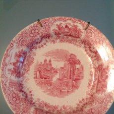 Antigüedades: PLATO HONDO PICKMAN. SERIE ROJA. SELLO ANCLA. Lote 99747862