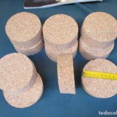 Antigüedades: 10 TAPONES CORCHOS PARA GARRAFONES DAMAJUANAS DE 9.5CM DIÁMETRO INTERIOR DE LA BOCA 35MM GRUESO +INF. Lote 99749507