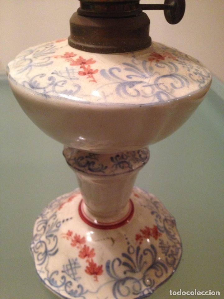 Antigüedades: Quinqué cerámica - Foto 7 - 99756831