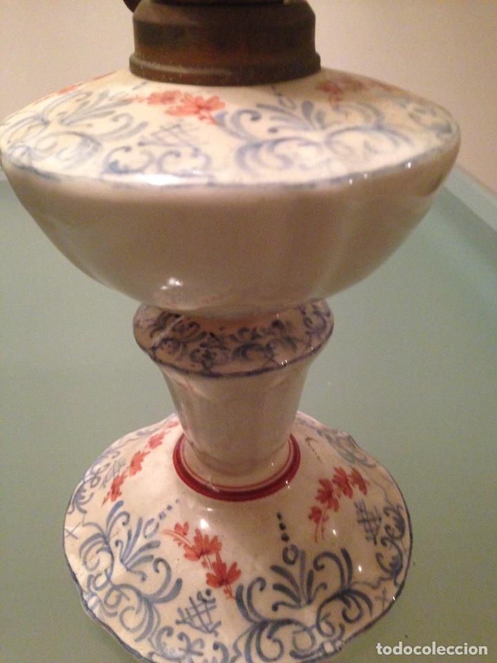 Antigüedades: Quinqué cerámica - Foto 8 - 99756831