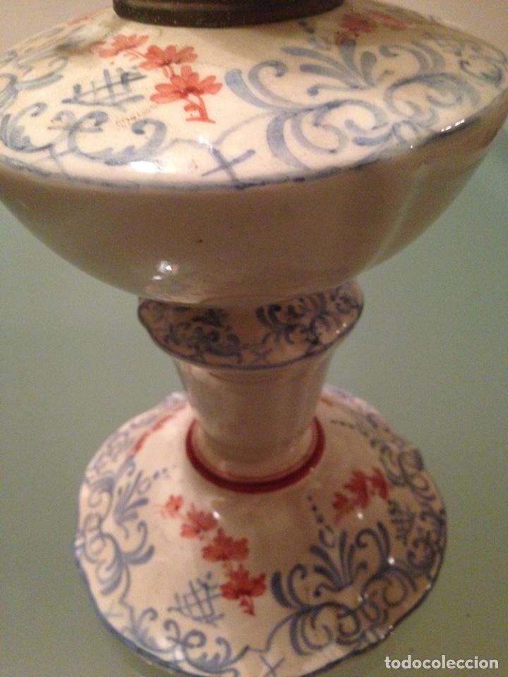 Antigüedades: Quinqué cerámica - Foto 9 - 99756831