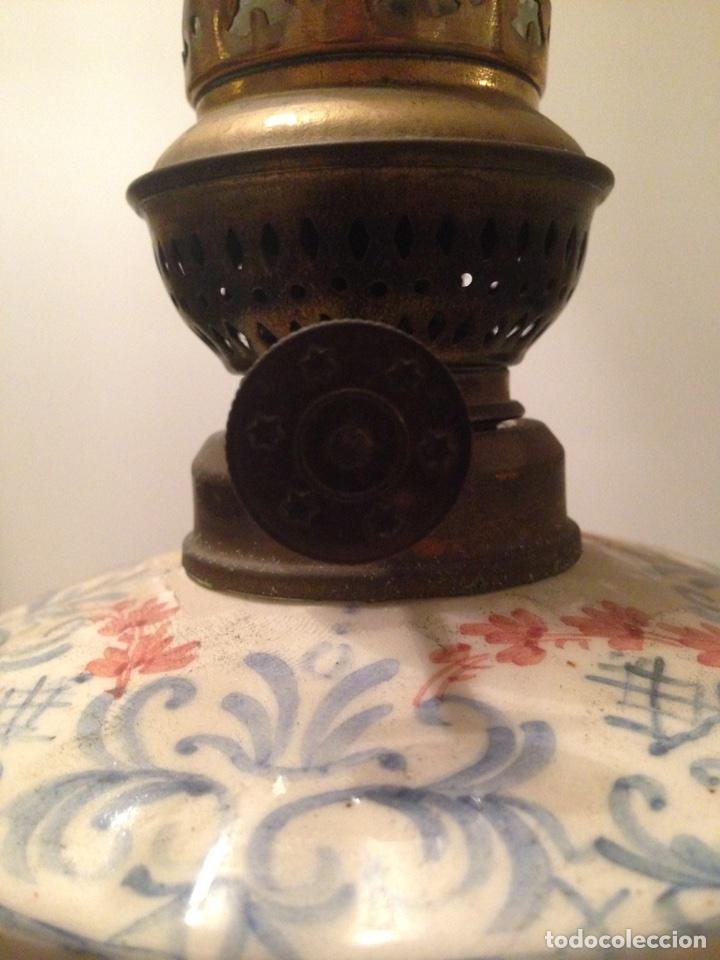 Antigüedades: Quinqué cerámica - Foto 10 - 99756831