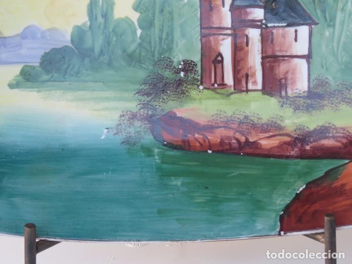 Antigüedades: BANDEJA PORCELANA LIMOGES PINTADA A MANO. - Foto 4 - 99768635