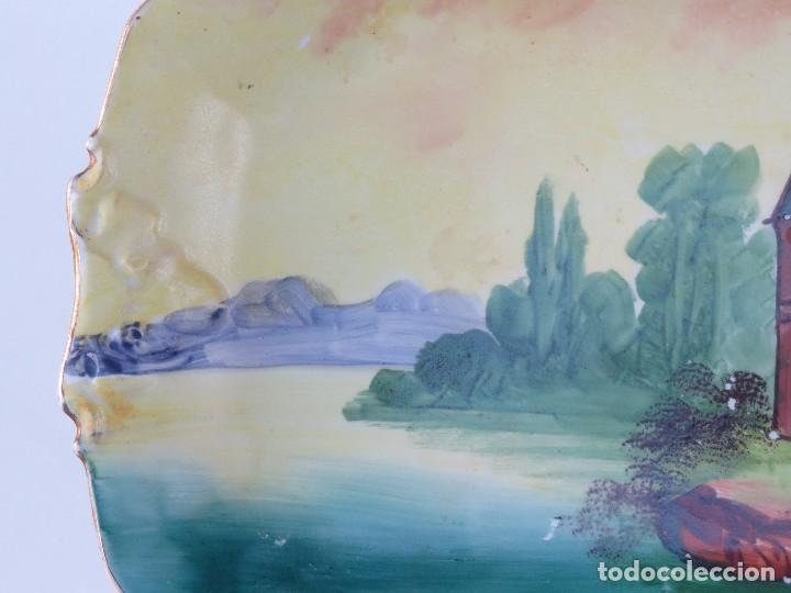 Antigüedades: BANDEJA PORCELANA LIMOGES PINTADA A MANO. - Foto 5 - 99768635