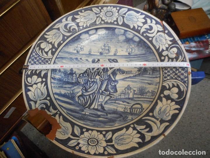 GRAN PLATO FUENTE CERAMICA CATALANA CATALAN (Antigüedades - Porcelanas y Cerámicas - Catalana)