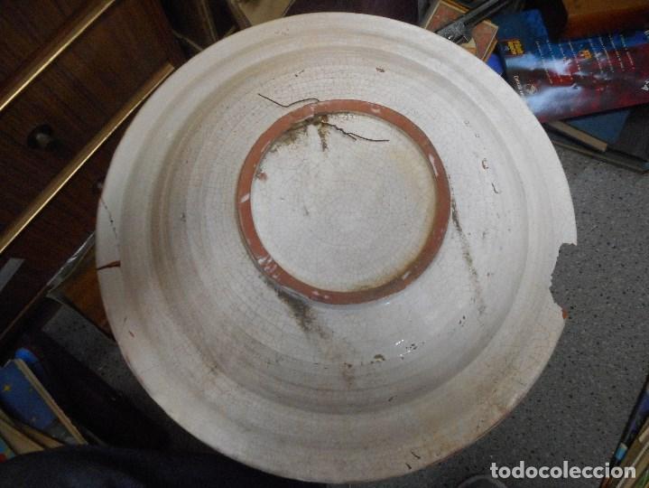 Antigüedades: gran plato fuente ceramica catalana catalan - Foto 2 - 99778259