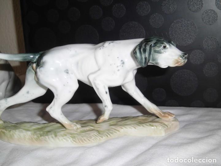 Antigüedades: BONITO PERRO DE CAZA EN PORCELANA ALGORA MARCADO EN LA BASE - Foto 3 - 99814139