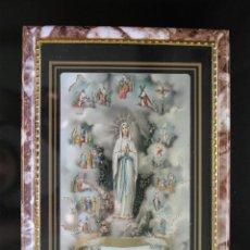 Antigüedades: CUADRO DECORATIVO VIRGEN MARÍA. Lote 99816651