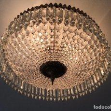Antigüedades: LAMPARA DE CRISTAL DE ROCA. Lote 99847139