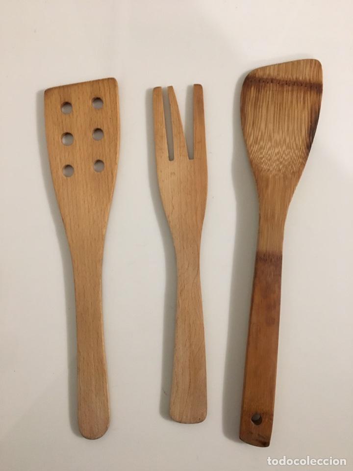 conjunto de utensilios de cocina de madera - Comprar Utensilios del ...