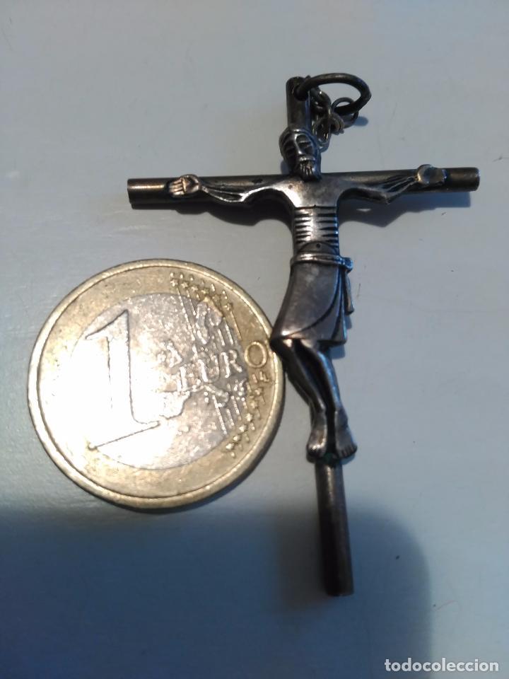 CRUZ CRUCIFIJO CRISTO PLATA?? (Antigüedades - Religiosas - Crucifijos Antiguos)