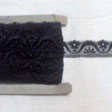 Antigüedades: PUNTILLA NEGRA ANTIGUA, 25 METROS 3 CM DE ANCHO. Lote 99899879