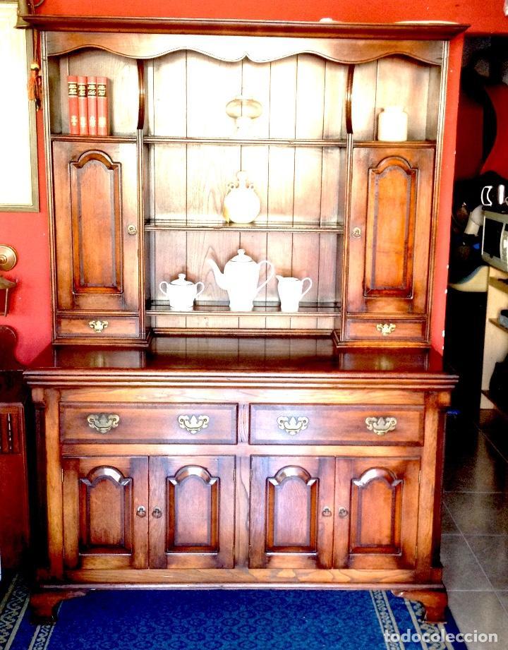 estupendo mueble inglés en roble macizo - Comprar Muebles Auxiliares ...