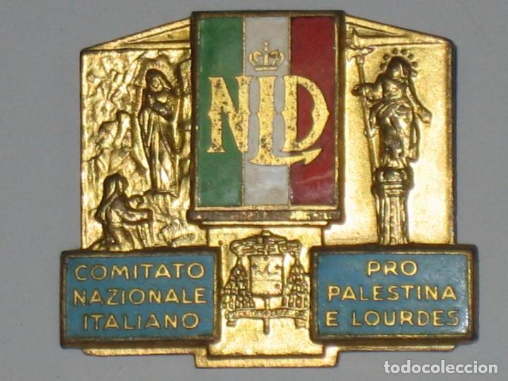 Antigüedades: LOTE MEDALLAS INSIGNIAS CHAPAS ITALIA PEREGRINACIÓN LOURDES - Foto 2 - 99910111