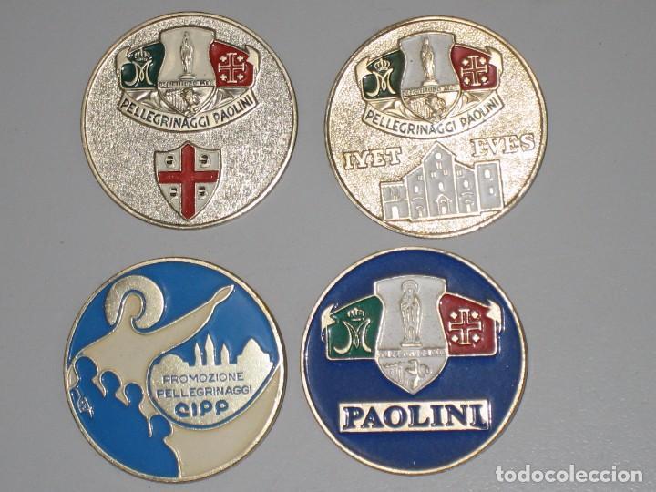 Antigüedades: LOTE MEDALLAS INSIGNIAS CHAPAS ITALIA PEREGRINACIÓN LOURDES - Foto 8 - 99910111