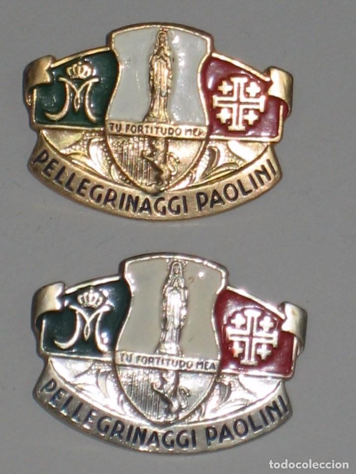 Antigüedades: LOTE MEDALLAS INSIGNIAS CHAPAS ITALIA PEREGRINACIÓN LOURDES - Foto 12 - 99910111