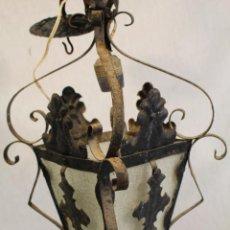 Antiquitäten - lampara farol de techo en hierro de forja - 99914143