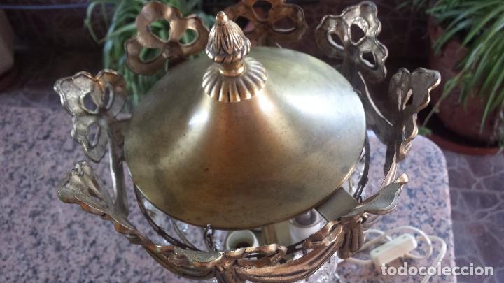 Antigüedades: antigua lamparita de mesilla de noche - Foto 4 - 99936775