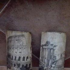 Antigüedades: TEJAS RÚSTICAS DECORADAS ARTESANALMENTE . Lote 99955147