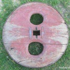 Antigüedades: RUEDA DE CARRO - GALICIA SUR -106CM DIAMETRO, ROBLE, EN BUEN ESTADO, 80/90 KG, FINALES XIX/XX + INFO. Lote 99982191