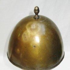 Antigüedades: PRECIOSA LAMPARA ART DECO SETA CIRCA 1900 EN LATON NIQUELADO RESTAURADA . Lote 99990307