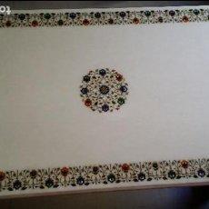 Antiquitäten - mesa rectangular marmol blanco con incrustaciones - 100014555