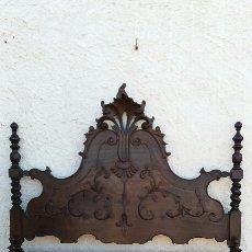 Antigüedades: CABECERO DE MADERA DE CASTAÑO REBAJADO. Lote 100022639
