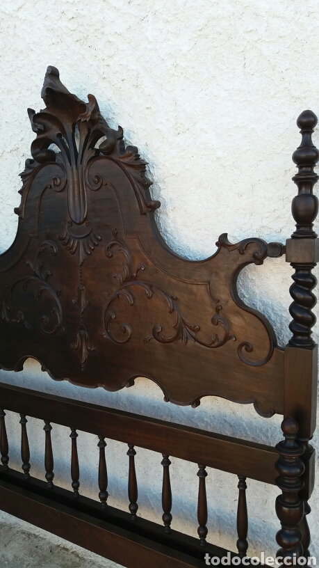 Antigüedades: cabecero de madera de castaño rebajado - Foto 2 - 100022639
