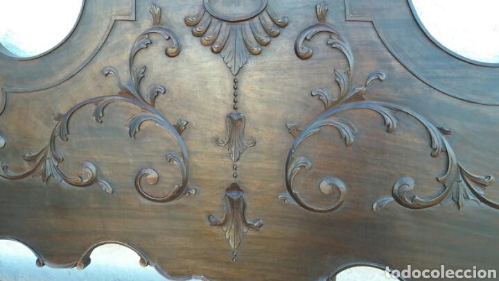Antigüedades: cabecero de madera de castaño rebajado - Foto 4 - 100022639