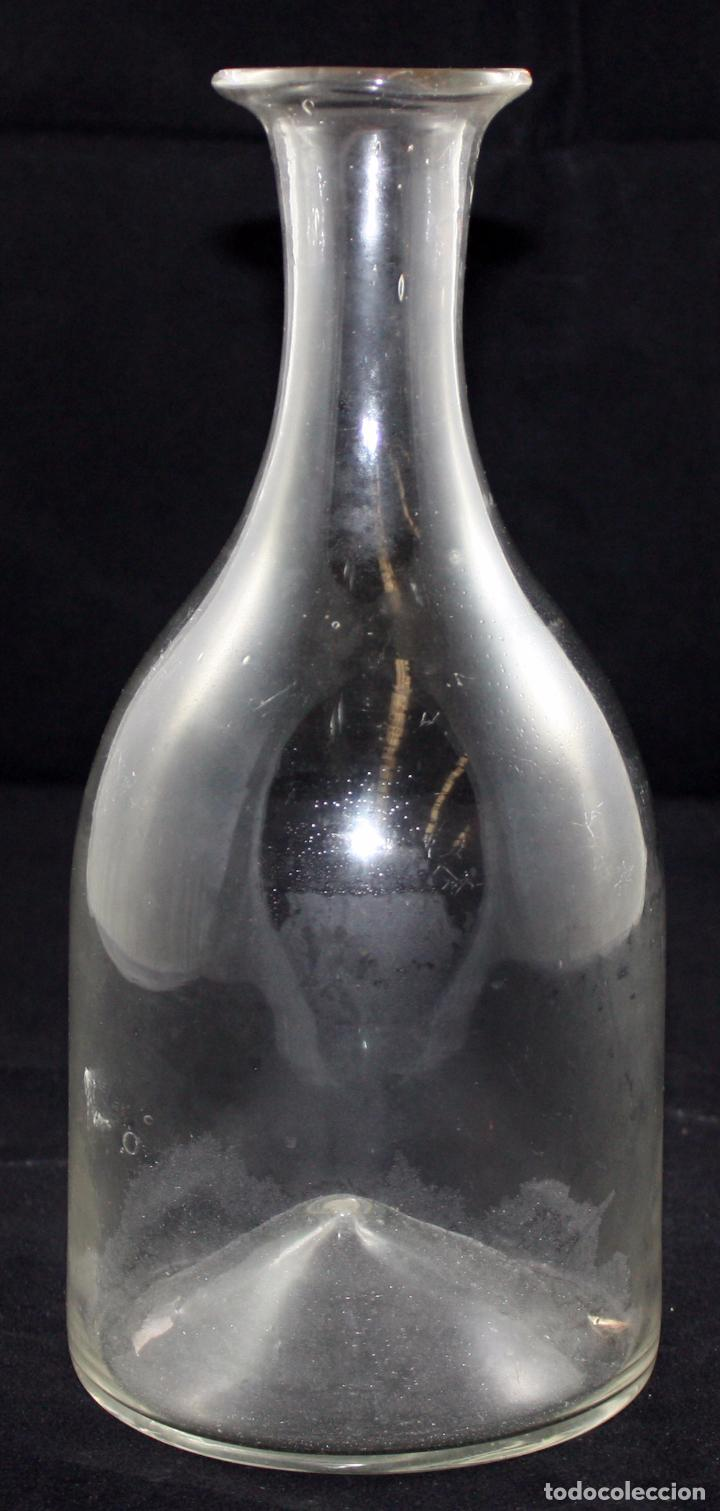 ANTIGUA BOTELLA EN CRISTAL DE LA GRANJA (SIGLO XIX) (Antigüedades - Cristal y Vidrio - La Granja)