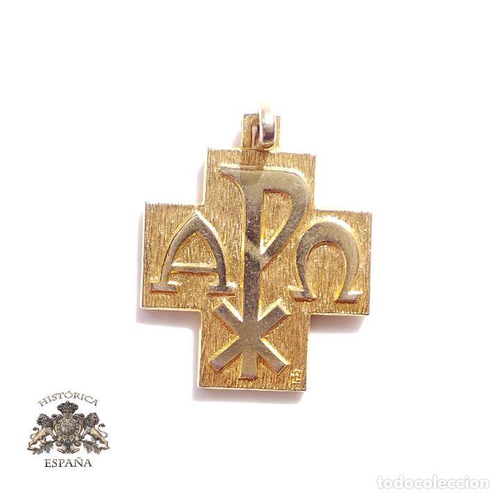 CRUZ MEDALLA JUAN PABLO II. ROMA (Antigüedades - Religiosas - Cruces Antiguas)