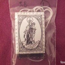 Antigüedades: ESCAPULARIO DEL CARMEN. . Lote 100074615
