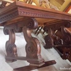 Antigüedades: MESA DE COMEDOR DE MADERA DE CASTAÑO CON PATAS EN ESPIRAL (LIQUIDACIÓN). Lote 100079339