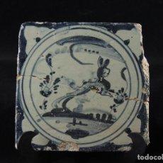 Antigüedades: AZULEJO TALAVERA S.XVIII.. Lote 100080403