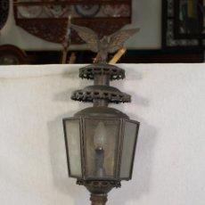 Antigüedades: FAROL DE CARRUAJE EN LATON. Lote 100111143