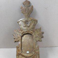 Antigüedades: CORNUCOPIA DE MADERA ESTUCADA Y DORADA, SIGLO XIX. Lote 100134375