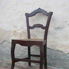 Antigüedades: JUEGO DE 4 SILLAS ALFONSINAS DE CAOBA Y REJILLA. Lote 100144239