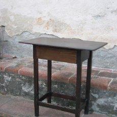 Antigüedades: MESITA DE PINO CON CAJON. Lote 100151187