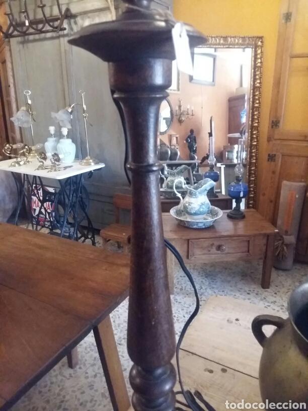 Antigüedades: Pie de lámpara antiguo - Foto 3 - 100152471