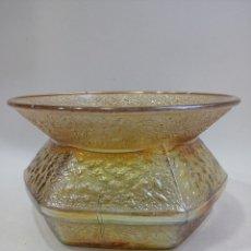 Antigüedades: JARRÓN CRISTAL IRIDISCENTE ART NOUVEAU, TIPO LOETZ, MODERNISTA, ART DECO. Lote 100159855