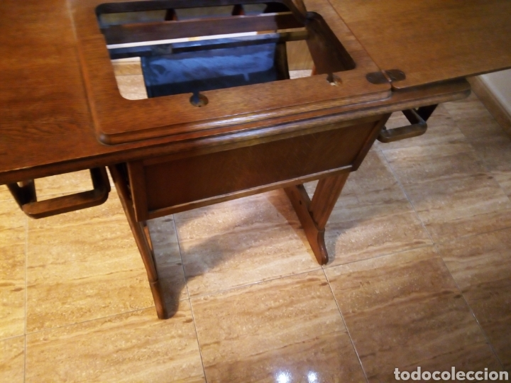 Mesa m quina de coser singer a os 60 nogal vendido en venta directa 100166451 - Mesa maquina coser singer ...