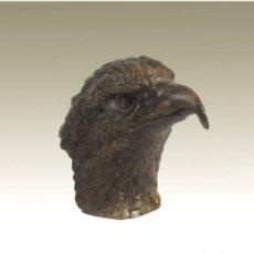 Antigüedades: ESCULTURAS. ESCULTURA ARTESANAL EN BRONCE A LA CERA PERDIDA CABEZA DE ÁGUILA. Lote 276845343