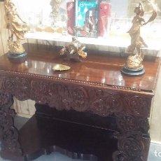 Antigüedades: IMPRESIONANTE Y ANTIGUO MUEBLE EN MADERA, ESPECIE DE APARADOR MUY BONITO Y BIEN CONSERVADO. Lote 100186315