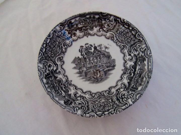 Antigüedades: JUEGO DE TAZAS CERÁMICA LA CARTUJA - Foto 6 - 232447045