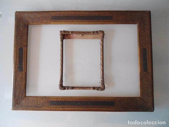 pareja antiguas molduras para cuadros comprar marcos